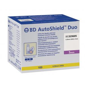 BD AutoShield Duo 5mm 30G Pennaalden
