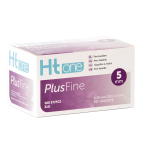 Ht One Plusfine pennaalden 5mm 31G (100)