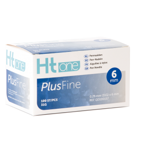 Ht One Plusfine pennaalden 6mm 31G (100)