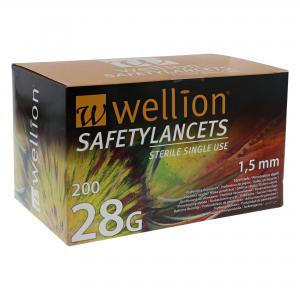 Wellion Safety Lancetten – 28G (200 st)
