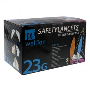 Wellion Safety Lancetten – 23G (200 st)